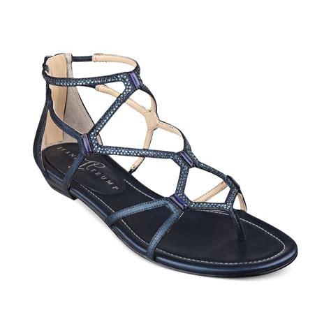 navy sandals flat ivanka kalia flat sandals in blue lyst