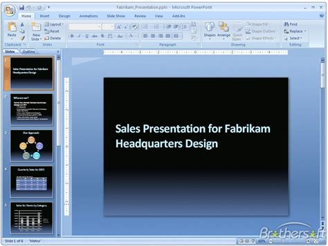 Powerpoint Microsoft 2007 Free Download Powerpoint Powerpoint Presentation 2007 Free