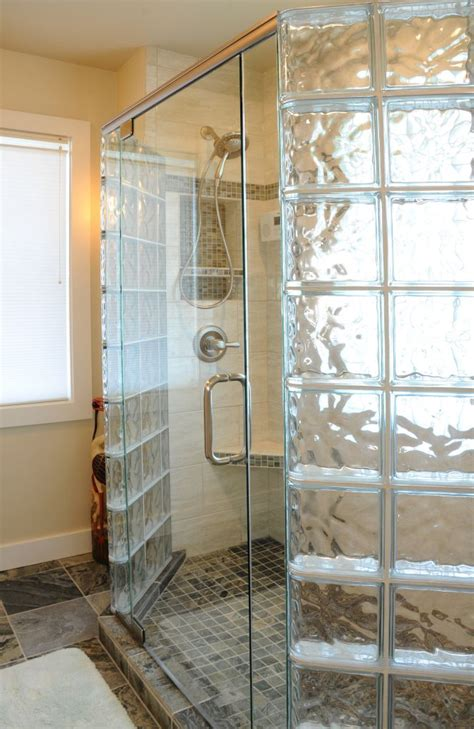 Glass Shower Doors And Walls How To Create A Luxury Glass Block Shower With A Frameless Glass Door