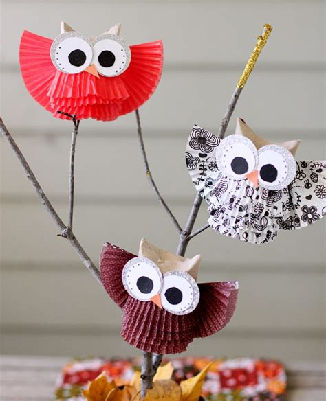 owl centerpiece display sugar bee crafts