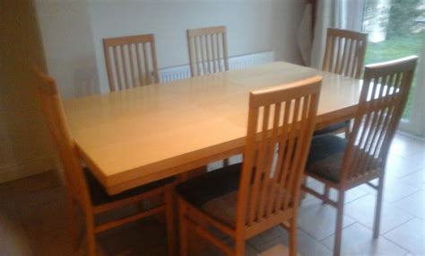 maple kitchen table maple kitchen table and 6 chairs for sale in navan meath