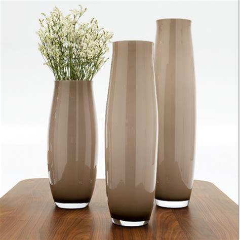 vasi da tavolo moderni vaso vetro babette color topazio 7096 b h 50 cm