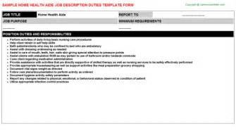 home health aide description home health clinician descriptions