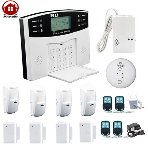ag security 2 6 quot gsm alarm system w voice white