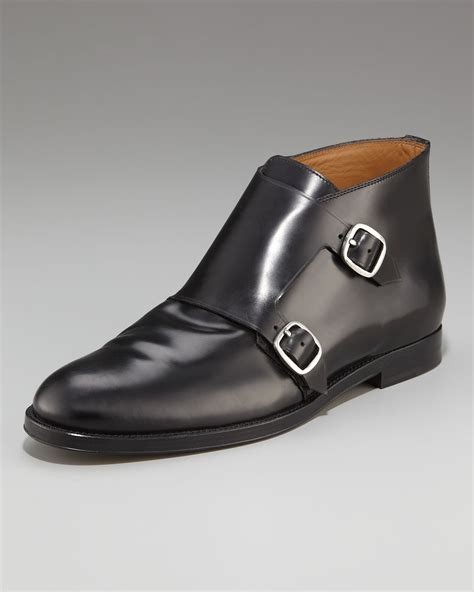mens monk boots jimmy choo monk boot in black for lyst