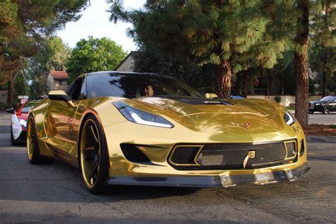 corvette stingray gold gold chrome corvette stingray madwhips