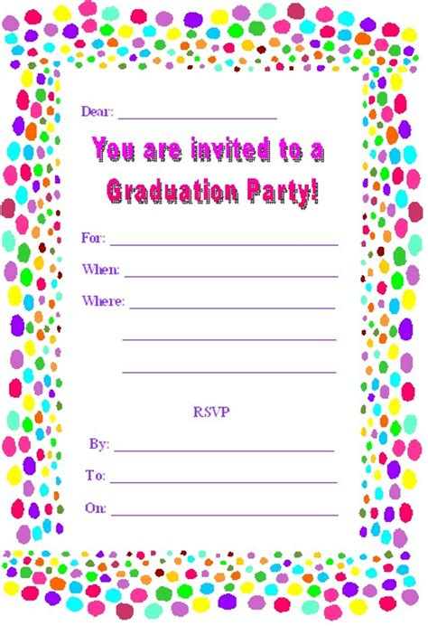 free printable graduation invites