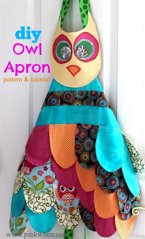 pattern for owl apron my little owl apron confession fun projects free