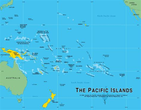 map of south pacific island and city maps for oceania and the pacific