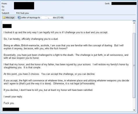 Apology Letter For Killing Someone Fumaga Stuff Legally Kill Challenge Duel Letter Of Apology