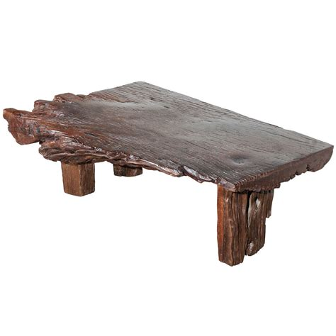 Wood Slab Coffee Tables Reclaimed Wood Slab Coffee Table At 1stdibs