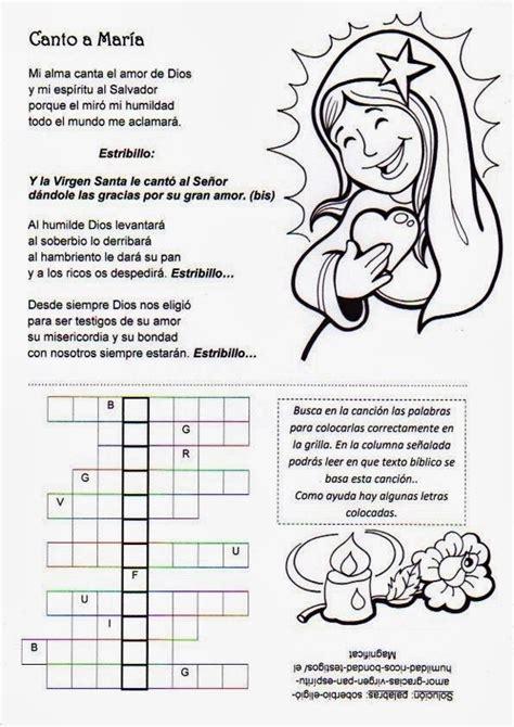actividades para ninos de la virgen maria el rinc 243 n de las melli virgen maria fichas para aula 2