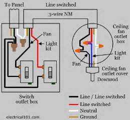 Wiring For A Ceiling Fan With Light Ceiling Fan Switch Wiring Electrical 101