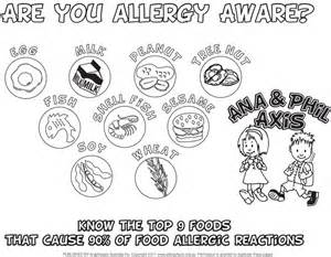 17 best images about food allergy colouring pages on pinterest milk allergy allergies and