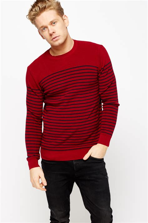mens knitted jumpers striped knitted mens jumper just 163 5
