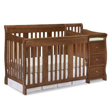Crib Bed Combo Portofino Convertible Combo Crib Changer In Dove Brown 04586 47d By Storkcraft Baby Cribs At
