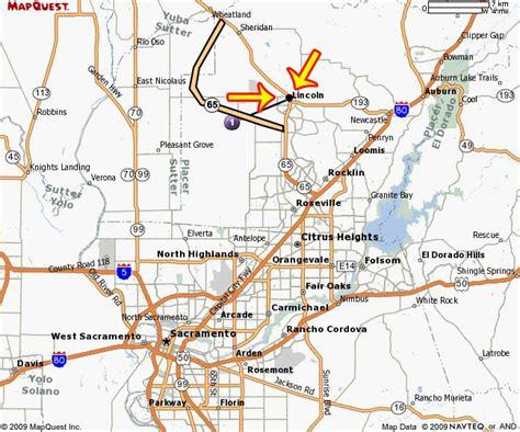 map to lincoln auto mall lincoln ca