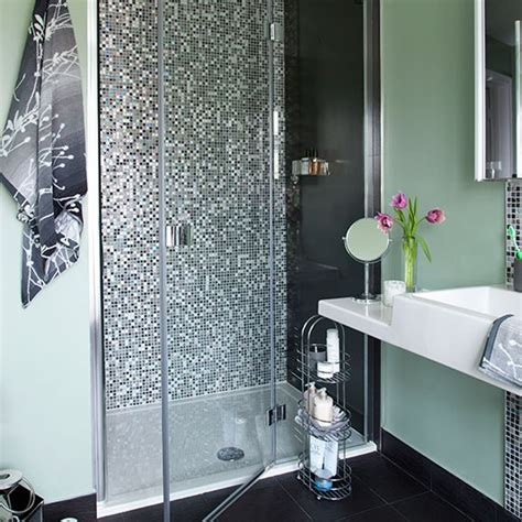 Mosaic Tile In Bathroom by Green Bathroom With Mosaic Tile Shower Bathroom Decorating Housetohome Co Uk