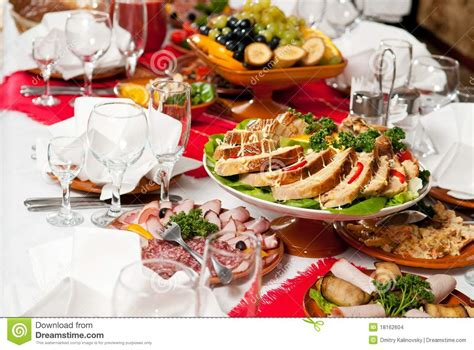 Luxury Cutlery by Catering Food Table Set Decoration Stock Images Image