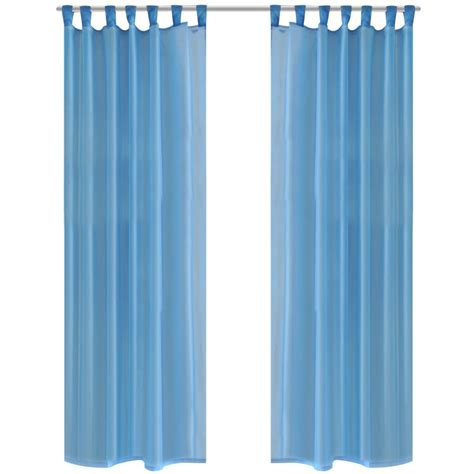 Turquoise Sheer Curtains Vidaxl Co Uk Turquoise Sheer Curtain 140 X 245 Cm 2 Pcs