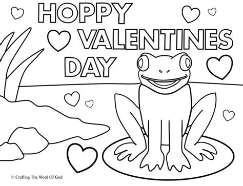 hoppy valentines coloring 171 crafting word god