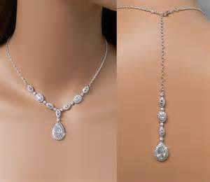 wedding backdrop necklace back drop bridal necklace wedding backdrop necklace y