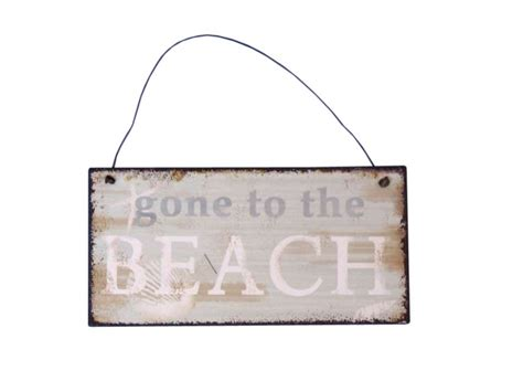 wholesale home decor signs wholesale tin gone to the beach sign 6 quot model ship