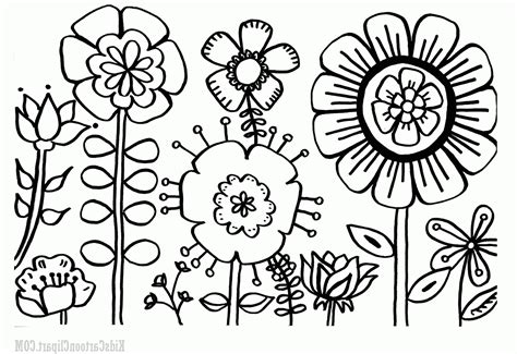 black and white coloring pages of flowers flower garden coloring pages educational coloring pages
