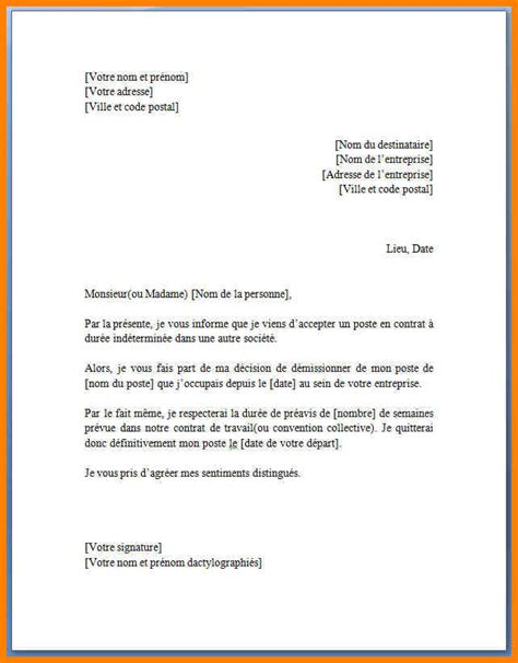 Exemple De Lettre De Démission Jobboom 8 Lettre De D 233 Mission Simple Cv Vendeuse