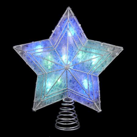 led christmas tree multi color changing topper 12 quot led lighted color changing silver glitter tree topper multi lights