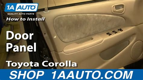 remove door panel   toyota corolla youtube