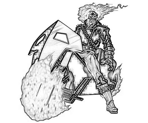 ghost rider free coloring pages