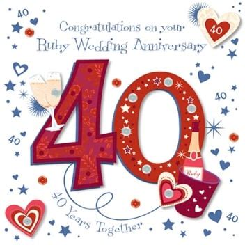 Ruby Wedding Anniversary Ideas Usually by Talking Pictures Congratulations On Your Ruby Wedding