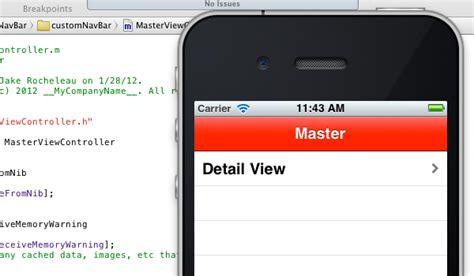 xcode layout navigation bar designing a custom iphone app navigation bar designm ag