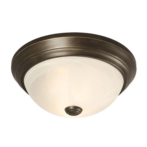 Restaurant Bathroom Design by Galaxy Lighting 625031 2 Light Flush Mount Ceiling Light