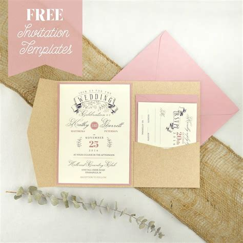 Printable Invitations With Envelopes | free wedding invitation templates make a great pair with