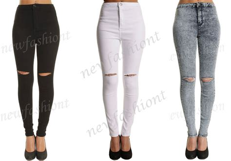 Ripped Jegging Ripped Jegging Ripped ripped knee womens high waisted jegging 6 8 10 12 14 16