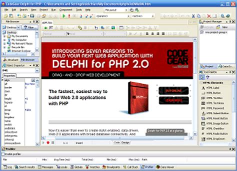 tutorial delphi for php 2 0 build your next web app with delphi for php 2 0
