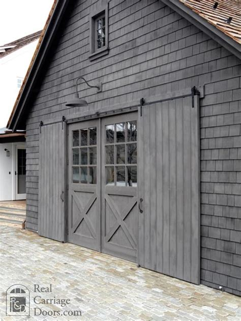 Sliding Barn Doors With Windows Sliding Barn Doors Interior Exterior Rustic Windows And Doors Seattle By Real