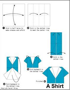 How To Make A Origami T Shirt - 1000 ideas about origami shirt on origami