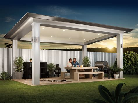 Backyard Kitchen Designs by Pavilion Outdoor Living Patio By Stratco Architectural