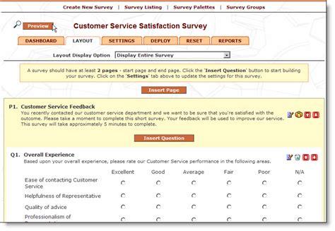 layout of a survey report websitegear web survey survey software screenshots