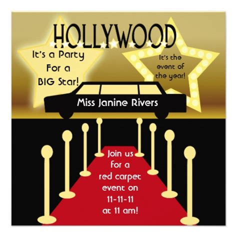 free templates for hollywood invitations 40th birthday ideas hollywood birthday invitation templates