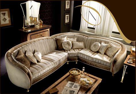 klassische sofas exklusive polsterecke sofa rossini beige golddekor