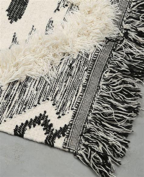 Tapis Berbere Noir Et Blanc by Tapis Coton Tiss 233 Berb 232 Re Noir 902998899f09 Pimkie