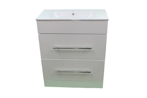 Vanity Units With Drawers For Bathroom Bathroom Cloakroom 700 White Sink Vanity Unit 2 Drawer Basin Tap Opt Bcnapm710 Ebay