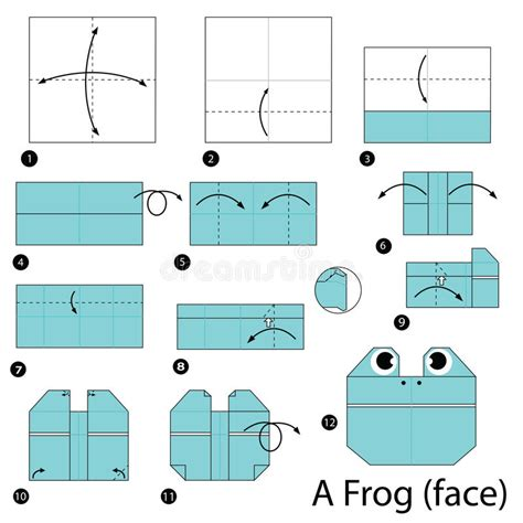 step by step how to make origami a frog