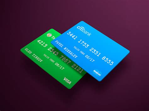 Credit Card Mockup Template Free Credit Card Mockup Psd