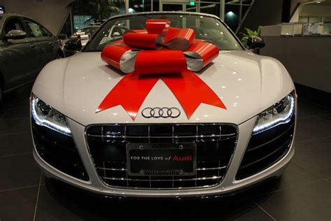 Geschenk Auto by Audi Gift Ribbon Regalo R8 Audir8