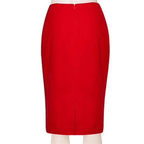 Slit Front Linen Blend Midi Skirt pencil skirt fashion skirts